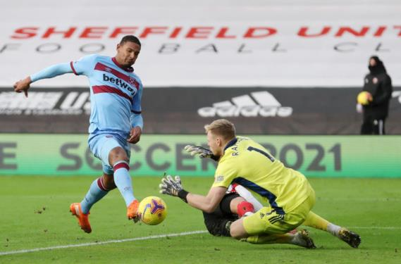Sébastien Haller of West Ham United (Photo by Catherine Ivill/Getty Images)